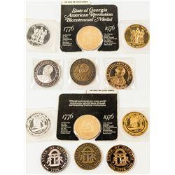 Half Dozen Georgia Medals  #571727