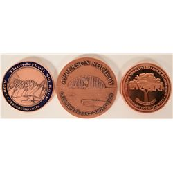 3 Copper Medallions from NW Territorial Mint  #109465