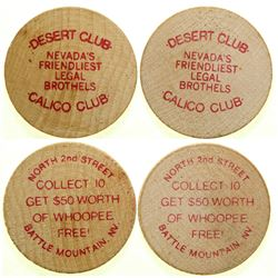 Calico Club / Desert Club Brothel Tokens  #101815