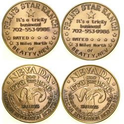 Fran's Star Ranch Brothel Token  #101818