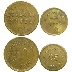 Espanol/Commercial Hotel Tokens  #89066