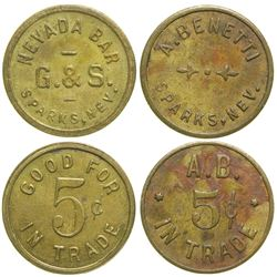 A. Benetti/Nevada Bar Tokens  #90393