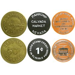 Three Different Nevada Town Tokens  #89042