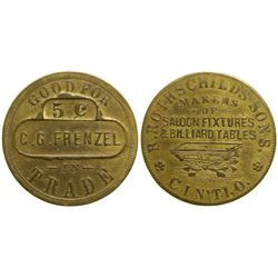 C. G. Frenzel Token  #89070