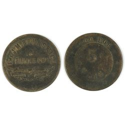 Brunswick Balke Co. Token  #58135