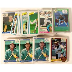 Fleer A's Baseball Cards from the 1984 Season  #109897