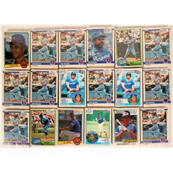 Fleer Braves Baseball Cards from the 1984 season  #110392