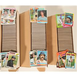 Topps 1975, 1976, 1977 Baseball Card Sets  #110565