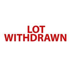 Lot Withdrawn  #