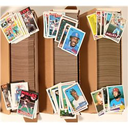 Topps 1985, 1986, 1989 Baseball Card Sets  #110555