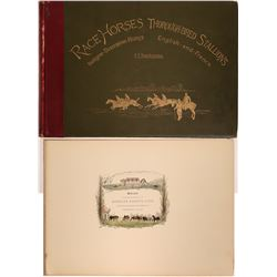 History of Race Horses Thorough-bred Stallions English and French  #110891