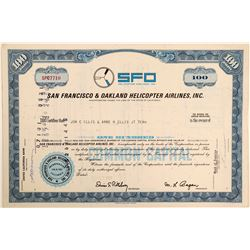 SFO Helicopter Airlines, Inc. Stock Certificate  #103421