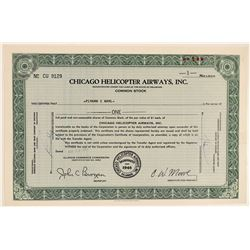 Chicago Helicopter Airways, Inc. Stock  #102286