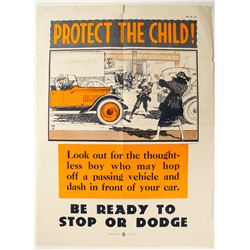 Early Automobile Safety Poster  #89939