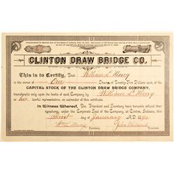 Clinton Draw Bridge Co Stock  #83466
