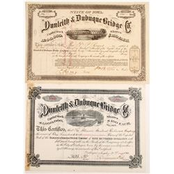Dunleith & Dubuque Bride Co Stocks (2)  #83447