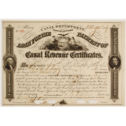 State of New York Canal Revenue Loan Certificate  #83406