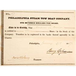 Philadelphia Steam Boat Tow Co Stock  #83337