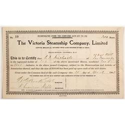 Victoria Steamship Co Stock  #83469