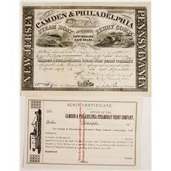 Camden & Philadelphia Steam Boat Ferry Co Stock  #83409