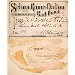 Selma, Rome & Dalton Railroad Pass, 1876  #60315
