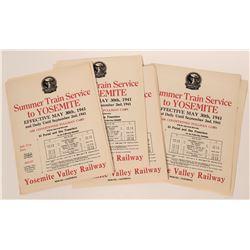 Yosemite Valley Railway Advertising Broadsides  #110679