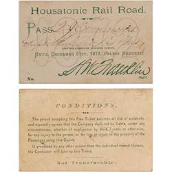 Railroad Pass, Housatonic Rail 1872  #59927