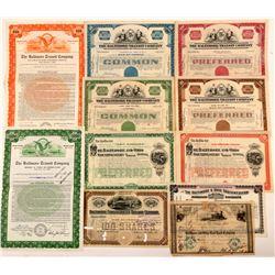Baltimore Railroad Stock Certificates & Bond  #107359