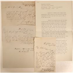Huffaker Autographed Letters Re: Virginia & Truckee RailroadStation (3)  #110668