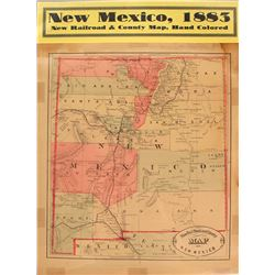 New Mexico Map (New Railroad & County Map)  #59359