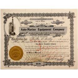 Auto=Marine Equipment Co  #77212