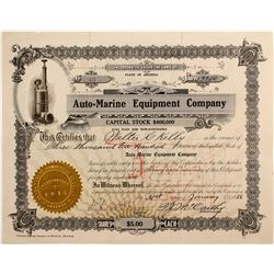 Auto=Marine Equipment Co  #77212