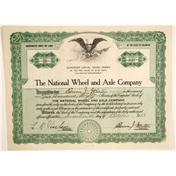 National Wheel and Axle Company  #89657