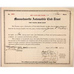 Massachusetts Automobile Club Trust  #83869