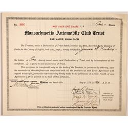 Massachusetts Automobile Club Trust  #83869