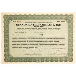 Standard Tire Company, Inc  #89711