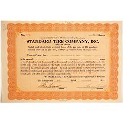Standard Tire Company, Inc  #89713