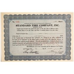 Standard Tire Company, Inc  #89712