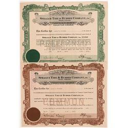 Sprague Tire & Rubber Co. Stock Certificates  #104233