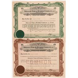 Sprague Tire & Rubber Co. Stock Certificates  #104233