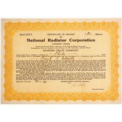 National Radiator Corp. Certificate of Deposit  #89656