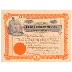 Chisna Consolidated Mines Company Stock  #101459