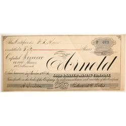 Arnold Gold & Silver Mining Company Stock  #77029