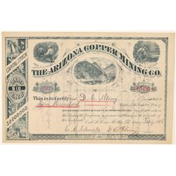 Arizona Copper Mining Co. Stock Certificate  #100897