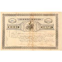 Howard Mining Company Stock Certificate  #100904