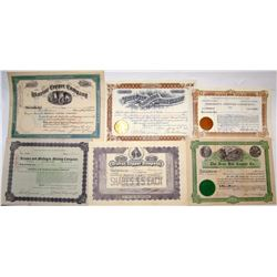Globe, Arizona Mining Stock Certificates (6)  #66027