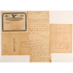 Gold Cliff Mining and Reduction Company collection of Stick, Letterheads and Maps  #88142
