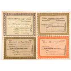 Calumet & Jerome Copper Co. Stock Certificates  #104262