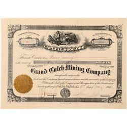 Grand Gulch Mining Company Stock Certificate  #100911