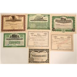 Oatman and Area Stock Certificates  #105963